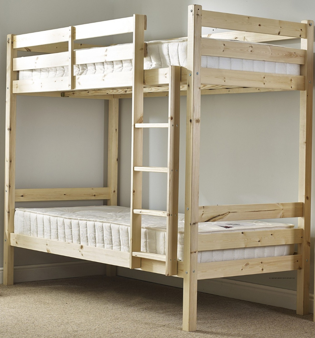 Plato 3ft Single HEAVY DUTY Solid Pine Bunk Bed