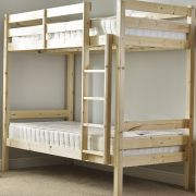 Plato 2ft 6 Small Single HEAVY DUTY Solid Pine Bunk Bed