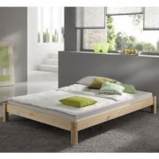 Kansas 2ft 6 Small Single SHORT LENGTH natural studio bed frame
