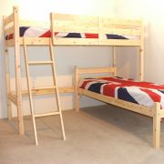 Celeste 2ft 6 Small Single HEAVY DUTY HIGH Solid Pine L SHAPED Bunk Bed