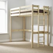 Memphis 3ft Single HEAVY DUTY Solid Pine HIGH SLEEPER Bunk Bed