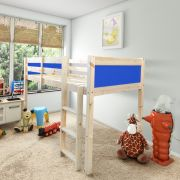 Molly Blue 2ft 6 Small Single Solid Pine Cabin Bed