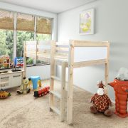 Molly White 2ft 6 Small Single Solid Pine Cabin Bed