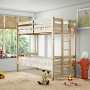 Moon 2ft 6 Small Single SHORT LENGTH Solid Pine Bunk Bed with End Ladder