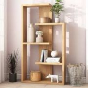 Wave Chunky Heavy Duty Solid Pine Four Shelf Bookcase