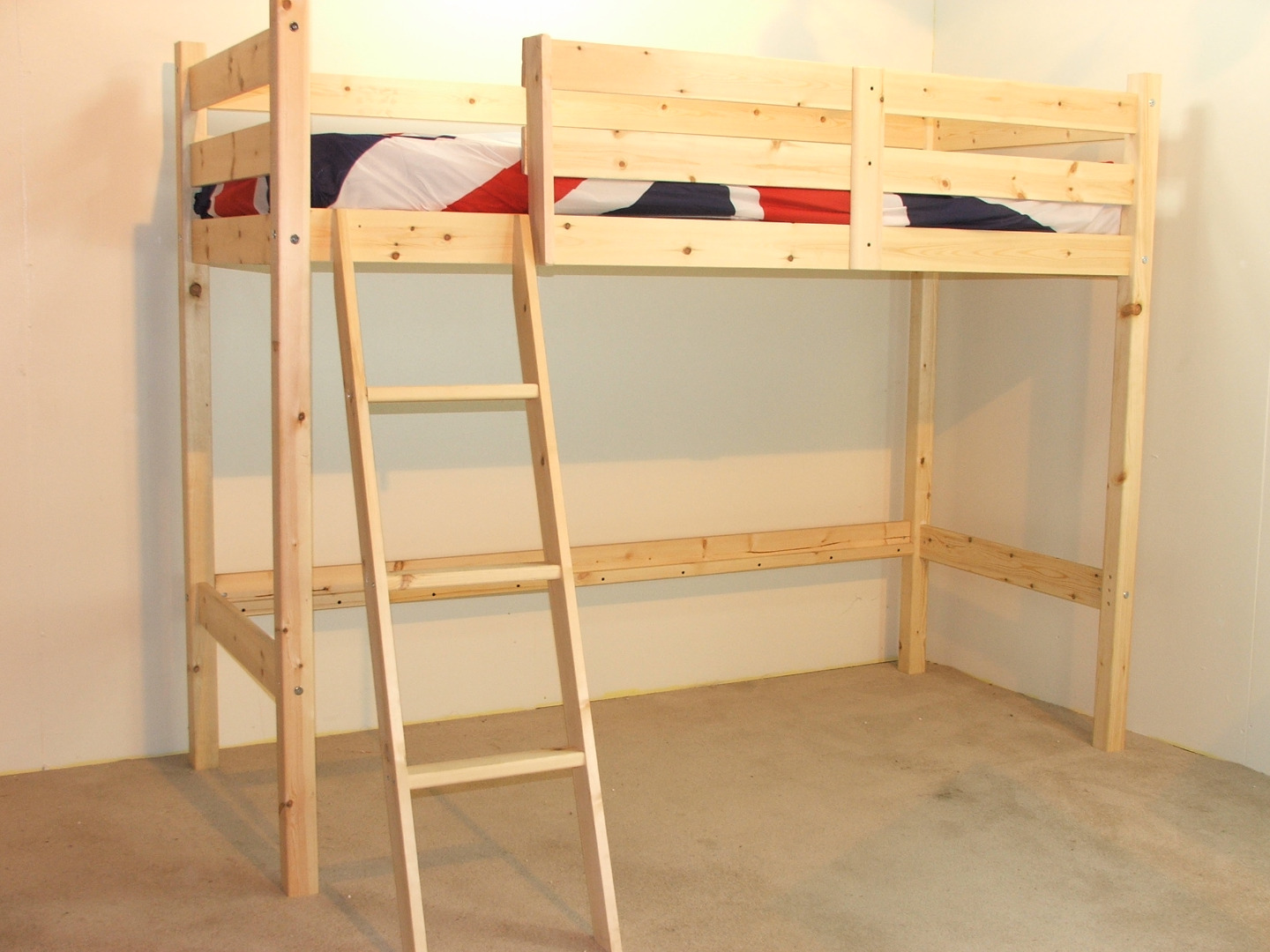 Oscar 3ft single short length pine low loft bunk bed no for 3 beds in one bunk bed