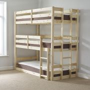 Pandora 3ft Single 3 Tier SHORT LENGTH Solid Pine HIGH Triple Sleeper Bunk Bed