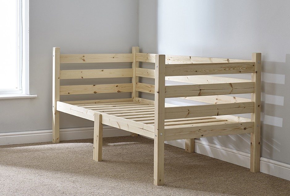 Ripvan 3ft Single Pine HEAVY DUTY Day Bed