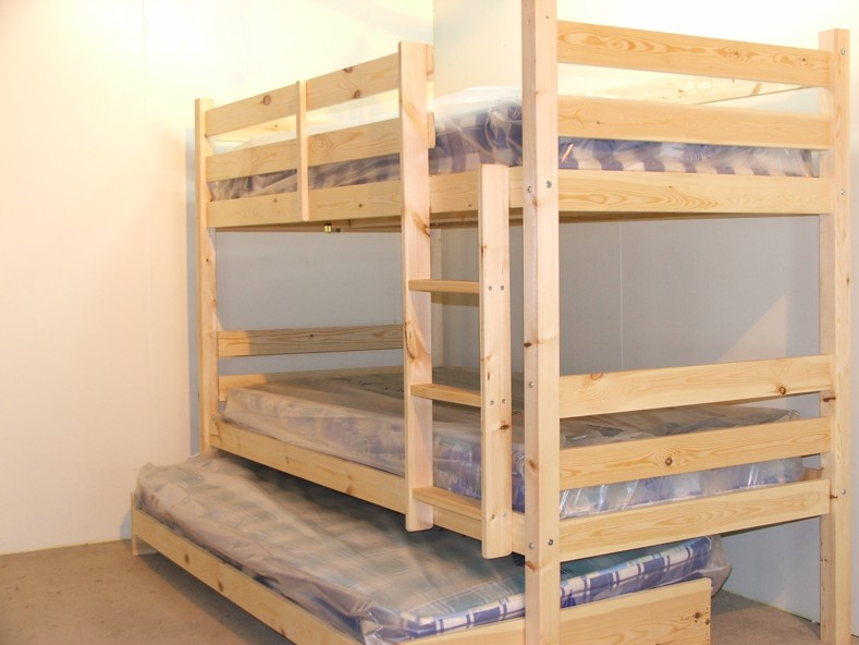 everest 2ft 6 small single heavy duty solid pine high bunk bed with guest bed. Black Bedroom Furniture Sets. Home Design Ideas