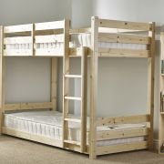 Pluto 2ft 6 Small Single HEAVY DUTY Solid Pine Bunk Bed