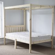 Quattro 5ft Kingsize FOUR POSTER Solid Pine Bed Frame