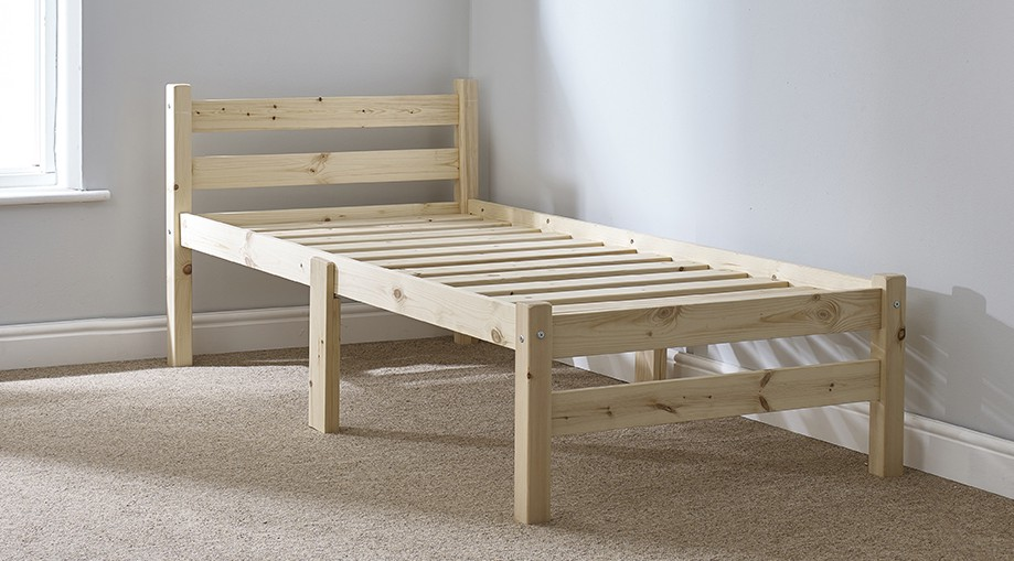 Samson 2ft 6 Small Single HEAVY DUTY Solid Pine Bed Frame