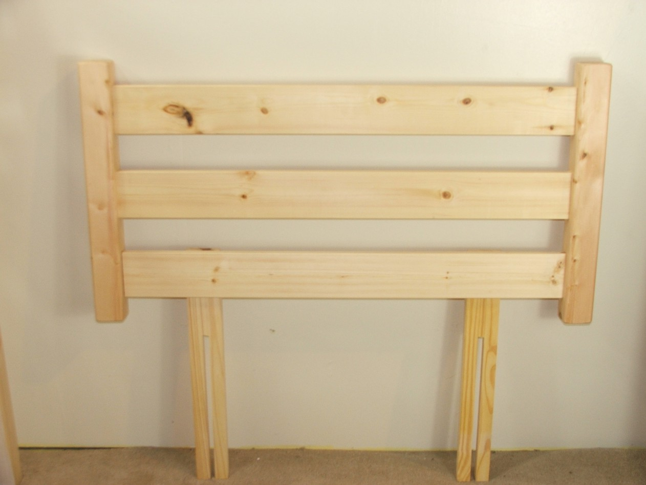 Solid Pine 2ft 6 Small Single Headboard