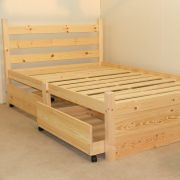 Somerset 4ft 6 Double Solid Pine FOUR DRAWER HEAVY DUTY Bed Frame