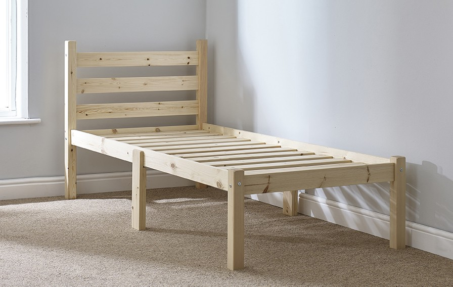 Somerset 2ft 6 Small Single SHORT LENGTH Solid Pine HEAVY DUTY Bed Frame