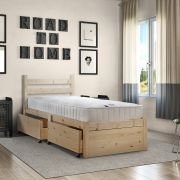 Somerset 2ft 6 Small Single STORAGE Pine Bed Frame