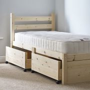 Somerset 3ft Single STORAGE Pine Bed Frame