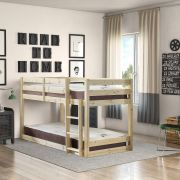 Stockton 2FT 6 Small Single short length Low Pine Bunk Bed