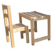 Solid Pine Study Chair and Desk Set